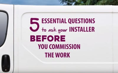 Five essential questions to ask your installer when replacing windows or doors