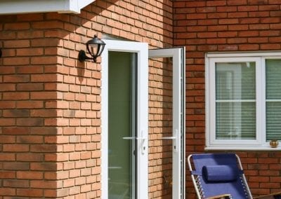 Double entrance doors - Orchard Stamford
