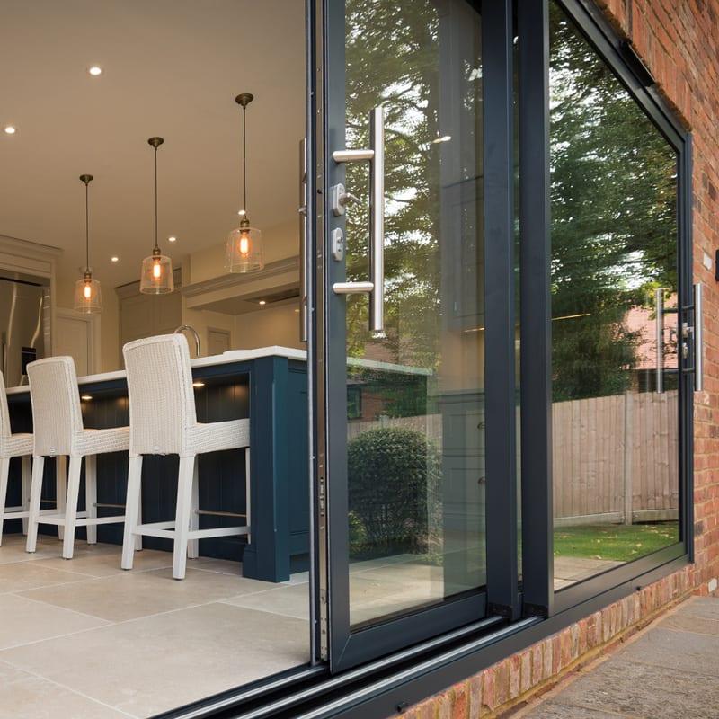 Origin aluminium sliding patio door
